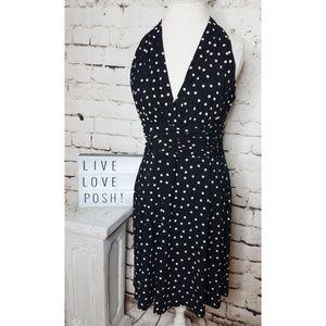 Evan-Picone Polka Dot Halter Dress sz 12